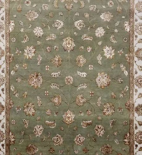Hand Knotted Clic Design Wool Silk Rugs For Lobby