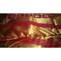 Red And Golden Party Wear Ladies Indian Traditional Silk Saree, 6.3 M (with Blouse Piece)