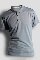 Men Plain Polyester Polo T-Shirt, Size: S to 2Xl