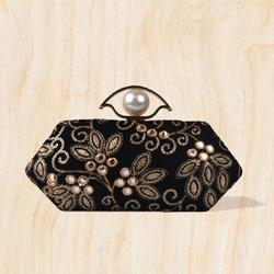 Embroidery Fabric Clutches
