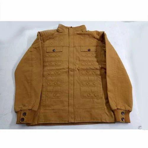 bfa2ab699 Mens Mustard Cotton Jacket