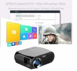 GP100UP Android 6.0, 3500 Lumens LCD 1080P Full-HD LED Projector