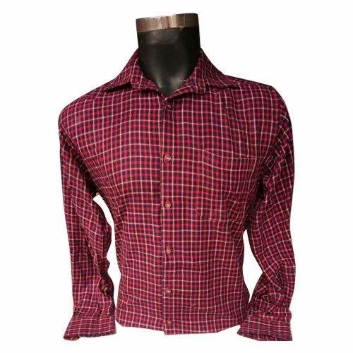 8b66b5bf6 Tanposh S And M Mens Maroon Check Shirt, Rs 275 /piece, NA ...
