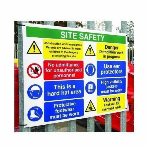 Outdoor Safety Sign Board, Shape: Rectangle