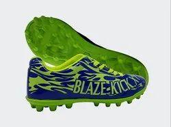 Green, Blue Blaze Kick X1 Football Shoe