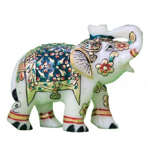 Multicolor Marble Elephant Statue Usage Home Decor Rs 900 Piece