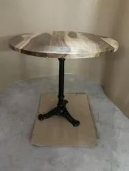 Round Wooden Top Table, For Hotel