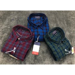 Mens Casual Cotton Check Shirts, Size: M, L, Xl, XXL