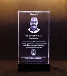 Golden Crystal Laser Engraved Glass Award, For College