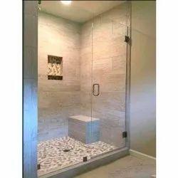 Transparent Hinged Shower Glass Door