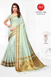 Silk Cotton Check Sarees