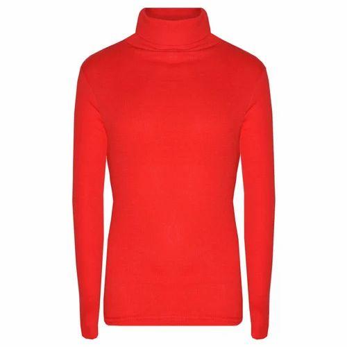 1a6598ead3cffd Ladies Cotton Red High Neck T Shirt, Rs 145 /piece, Bhardwaj ...