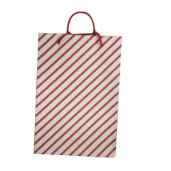Striped Handled Thampoolam Paper Bag