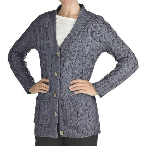 9924fac72e1f Ladies Full Sleeve Button Closure Woolen Knitted Cardigan