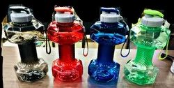 Multicolor Dumblled shape water bottle, Use For Storage: Juice, Capacity: 1.5 ltr