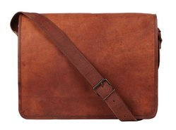 15 Inch Leather Vintage Crossbody Messenger Bag