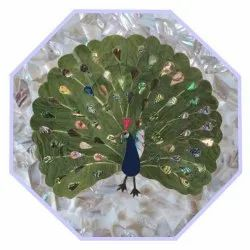 Peacock Design Marble Marble Inlay Table Top