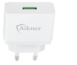 Aikner Single Port USB Charger - White Colors