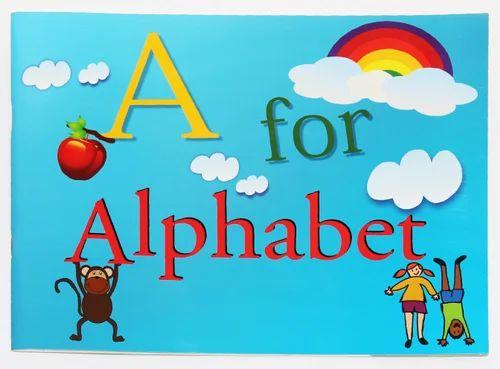 Paper English Alphabet Book, Blue Orange Publications, Nursery