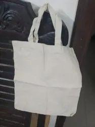 Handled Natural Cotton Cloth Bag, Capacity: 5 Kg