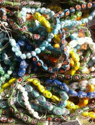 Glass Fancy Chips Beads