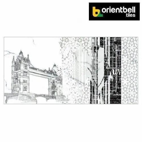 Orientbell Tiles Orientbell OTF TOWER BRIDGE ART Decorative Wall Tiles, Size: 300x600 Mm