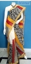 Cotton Block Printed Saree with Blouse Piece, Size: 6.5 m