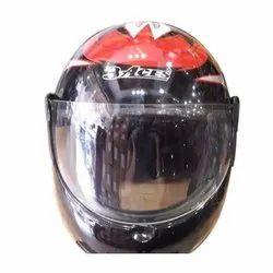 Men Black and Red 3 Aces Full Face Helmet For Driving Bikes