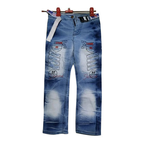 163513801be Blue Denim Kids Damage Jeans