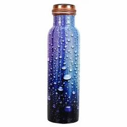 Water Drop Meena Print Copper Bottle