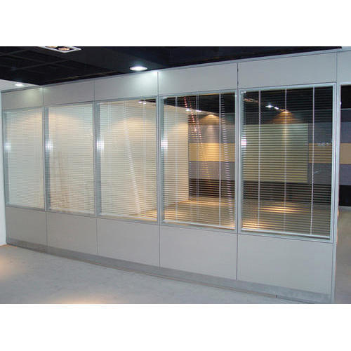 Aluminum Section Wall Partition At Rs 170 Square Feet Aluminium