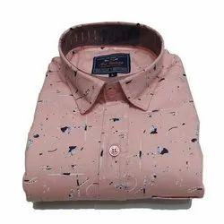 JD Choice Men Printed Cotton Shirt, Size: S-XXL