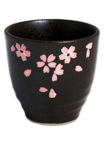 Nizona Grey And Pink Anese Ceramic Tea Cup With Sakura Design For Home