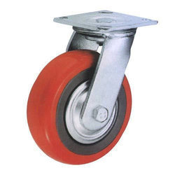Single Ball Bearing PU Caster Wheel