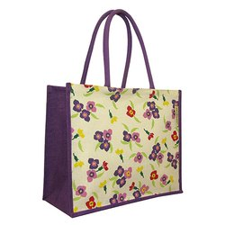 Floral Printed Jute Bag
