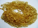 Citrine Plain Smooth Nugget Shape Beads