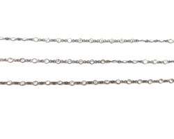 Cubic Zircon Gemstone Bezel Chain
