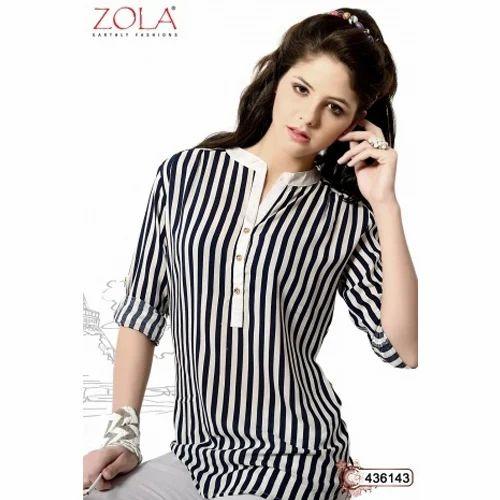c1c0bbb06ee86 Ladies Cotton Black And White Tops