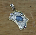 925 Sterling Silver Exclusive Jewelry Blue Topaz Pendant