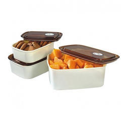 Brown And White Air Tight Containers, Capacity: 1100ml And 550ml And 330ml