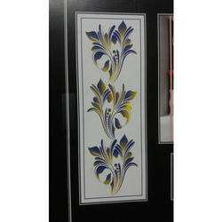 White Lacquered Cabinet Glass