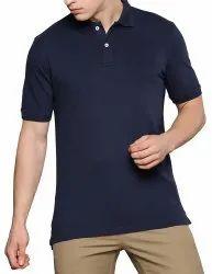 Mens Plain Half Sleeve Polo Collar Neck T Shirts