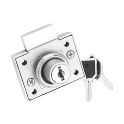 Aluminium Cabinet Lock, Stainless Steel, For Glass Cabinets & Doors