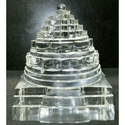 Sphatik Tikam Gems Crystal Quartz Shree Yantra, Packaging Type: Box