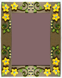 Yellow Flower Quilling Photo Frame