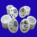 White Marble Inlay Jaali Box
