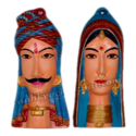 Gujarati Couples Face Wall Hanging