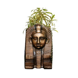 Egyptian Pharao Face Plant Pot