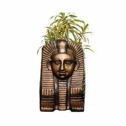 Egyptian Pharao Face Plant Pot