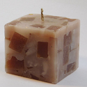 Square Textured Pillar Candles